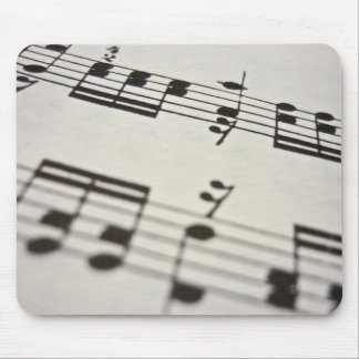 Sheet music score mouse pad