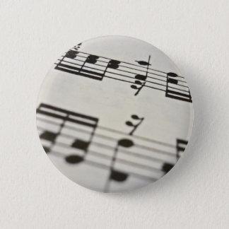Sheet music score pinback button