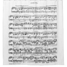 Sheet Music Shower Curtain
