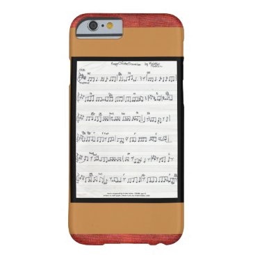 fabricatedframes Sheet music song Keep Of The Promise iPhone 6 case