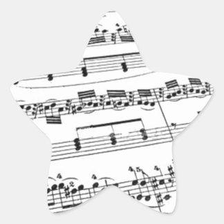 Sheet Music Star Sticker