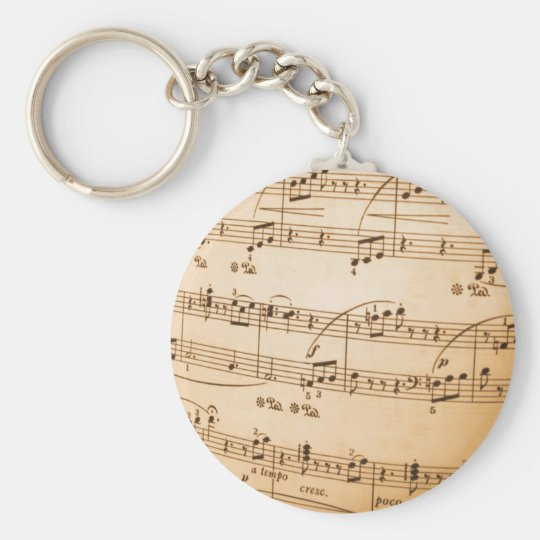 Sheet Music Template Create Your Own Custom Gifts Keychain