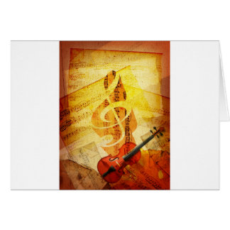 Sheet Music, Treble Cleff, and Violin Greeting Cards