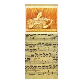 Sheet Music Vintage French | Violin Lessons Ad Card
