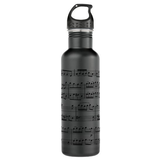 Sheet Music Water Bottle