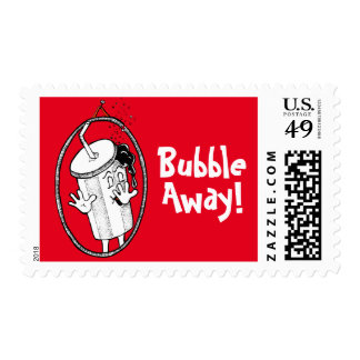 Sheet of 20 'Bubble Away!' Stamps. Postage Stamp