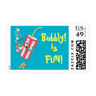 Sheet of 20 'Bubbly is FUN!' Stamps. Stamp