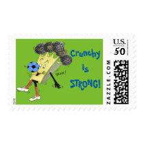 Sheet of 20 'Crunchy is STRONG!' Stamps. Postage