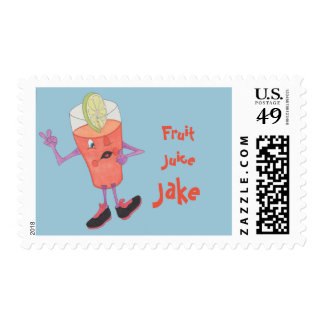 Sheet of 20 'Fruit Juice Jake' Stamps. Postage Stamp