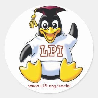 Sheet of 20 Graduate Penguin Stickers