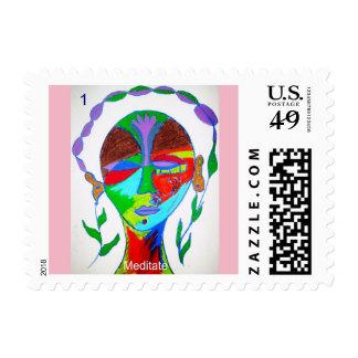Sheet of 20 Meditation Stamps