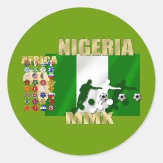 Sheet of 20 Nigeria MMX soccer football stickers