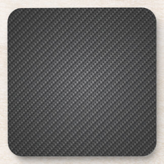 Sheet Of Carbon Fibre Texture Beverage Coaster