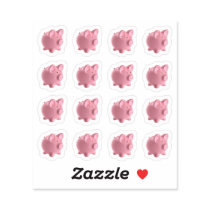 Sheet Of Cute Pigs Farm Animal Vinyl Stickers