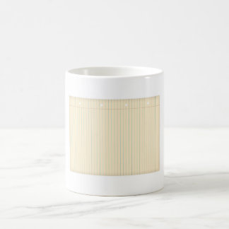 Sheet of old paper magic mug
