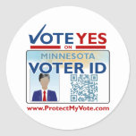 Sheet of Stickers - Vote YES on Voter ID