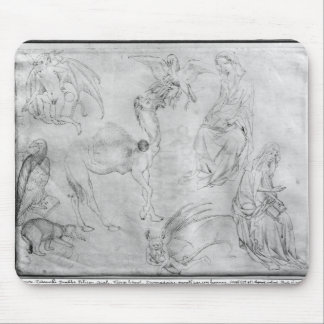 Sheet of studies, from the The Vallardi Album Mouse Pad