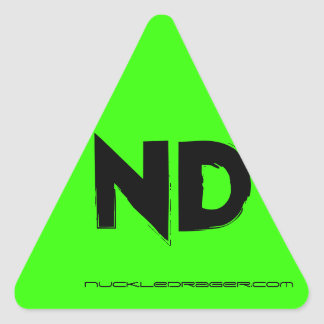 Sheet of triangle ND stickers