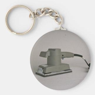 Sheet sander basic round button keychain
