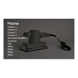 Sheet sander business card template
