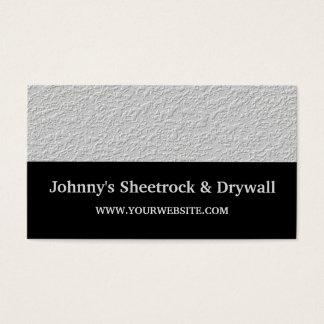 Sheetrock & Drywall Construction Business Card
