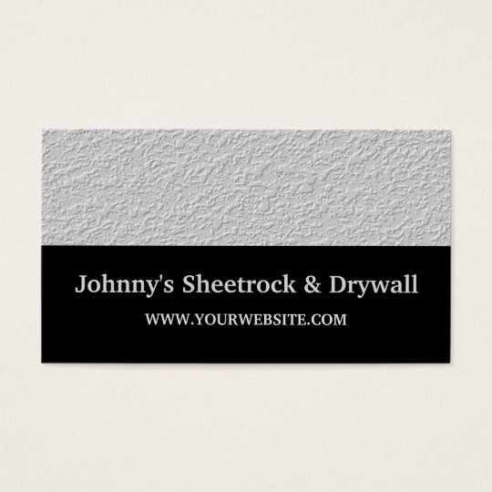 Sheetrock drywall construction business card zazzle sheetrock drywall construction business card reheart Choice Image