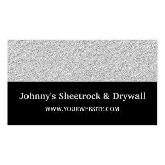 Sheetrock y tarjeta de visita de construcción de