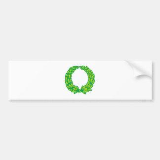 Sheets wreath of leaves wreath bumper sticker