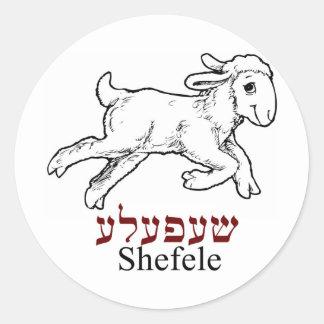 Shefeleh-little lamb round stickers