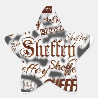 Sheffey Fonts Gray and Bronze - 9669 Star Sticker
