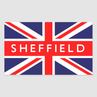 Sheffield: Bandera británica Pegatina Rectangular