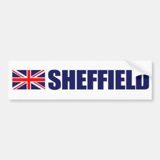 Sheffield, British Flag Car Bumper Sticker