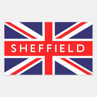 Sheffield : British Flag Rectangular Sticker