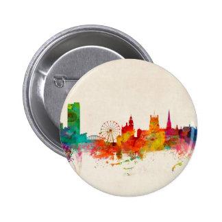 Sheffield England Skyline Pinback Button