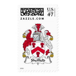 Sheffield Family Crest Postage Stamp