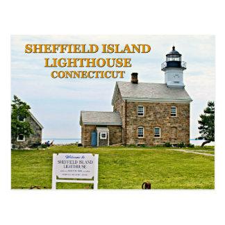Sheffield Island Lighthouse, Connecticut Postcard
