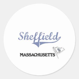 Sheffield Massachusetts City Classic Classic Round Sticker