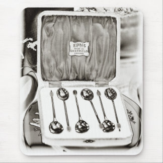 Sheffield silver spoons, London Mouse Pad