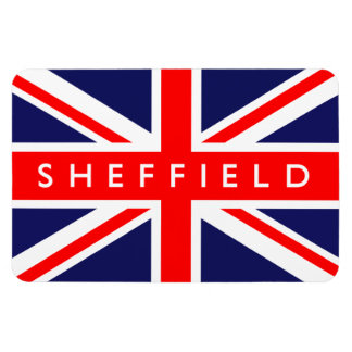 Sheffield UK Flag Rectangular Photo Magnet