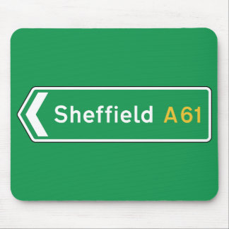Sheffield, UK Road Sign Mouse Pad