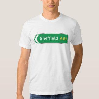 Sheffield, UK Road Sign T-Shirt
