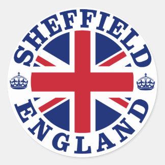 Sheffield Vintage UK Design Classic Round Sticker