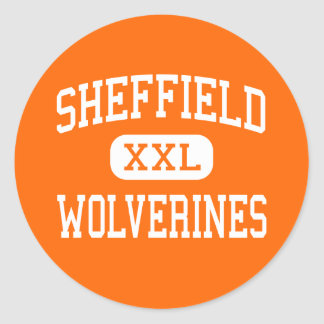 Sheffield - Wolverines - Area - Sheffield Classic Round Sticker