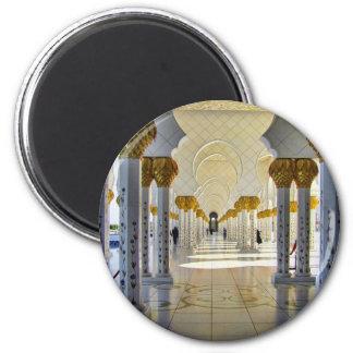 Sheikh Zayed Grand Mosque Corridor 2 Inch Round Magnet