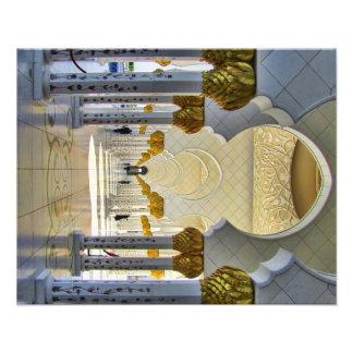 Sheikh Zayed Grand Mosque Corridor Photo Print