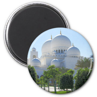 Sheikh Zayed Grand Mosque domes 1 2 Inch Round Magnet