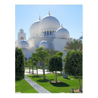 Sheikh Zayed Grand Mosque domes 1 Postcard