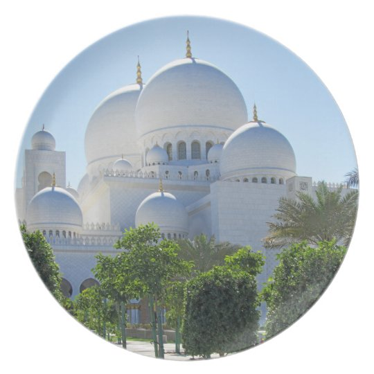 Sheikh Zayed Grand Mosque domes Dinner Plate