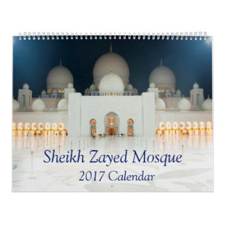 Sheikh Zayed Mosque Calendar