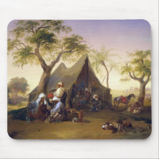 Sheiks Drinking Coffee In Front of A Tent by Josep Mousepads